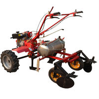 gear box diesel mini tiller matched with mulch applicator