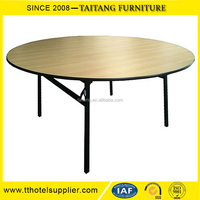 wholesale wedding round dining table with rotating centre for Banquet
