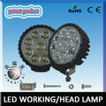 RGD1005 Factory price Epistar super bright waterproof IP68 circle led worklight 12v 27w 4wd led work light