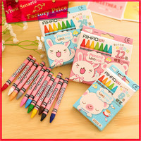 wholesale school stationery set for kids painting 8 colors 12 colors 24 colors pencil crayon