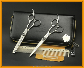 Professional hair cutting shears baber thinning scissors set made of SUS440C Japanese steel Popular scissor with black cases