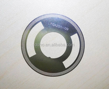 Acid etching 0.08mm Etching Optical Rotary Encoder disk manufacturers