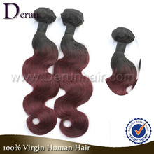 100% Virgin Wholesale Peruvian Weaving Human Ombre Braiding Affordable Body Wave #1b/bug Peruvian Ombre Hair