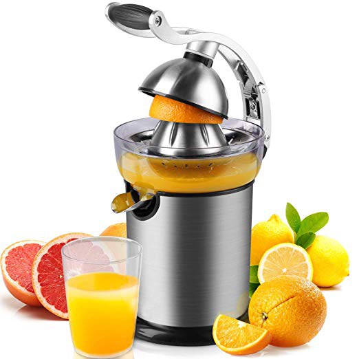 Stainless Steel Professional Electric Juicer With Suction Cup Anti-drip <strong>Nozzle</strong> In Aluminium Alloy With Silent Motor