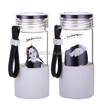 YXJ016 2017 Eco-friendly stylish water bottle glass customized bpa free new