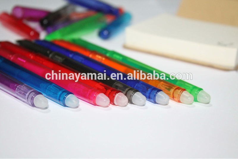colorful gel pen with eraser