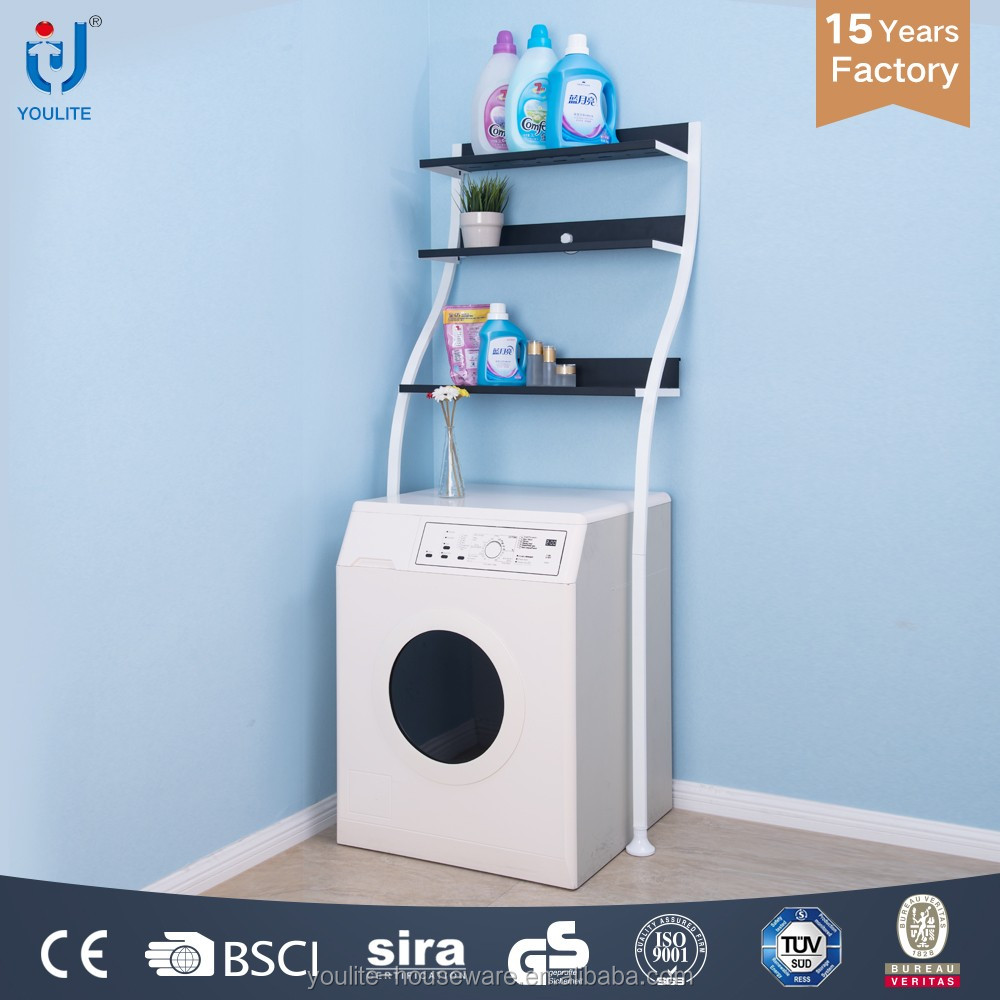 high quality metal washing machine cabinet with shelf for store