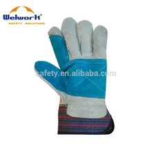 High Quality Colorful Customized buffalo leather work gloves