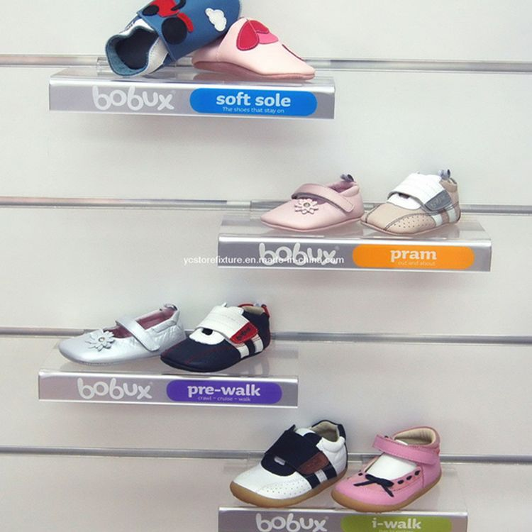 new arrival wall mount shoe display shelf,retail acrylic shoe display shelves