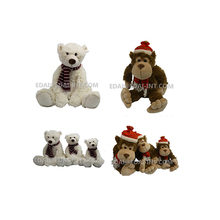 Electronic christmas plush playing saxophone polar music teddy bear 30cm