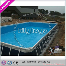 Personal directly customized swimming pool metal frame/durable swimming for crazy summer