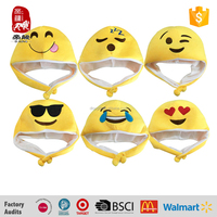 wholesale toy from china soft plush emoji hat toy to kids