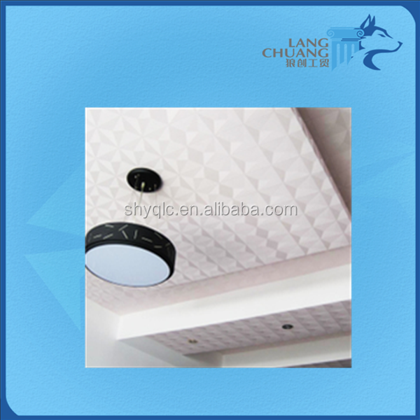 Architectural High Strength Customized White Gypsum Ceiling Board