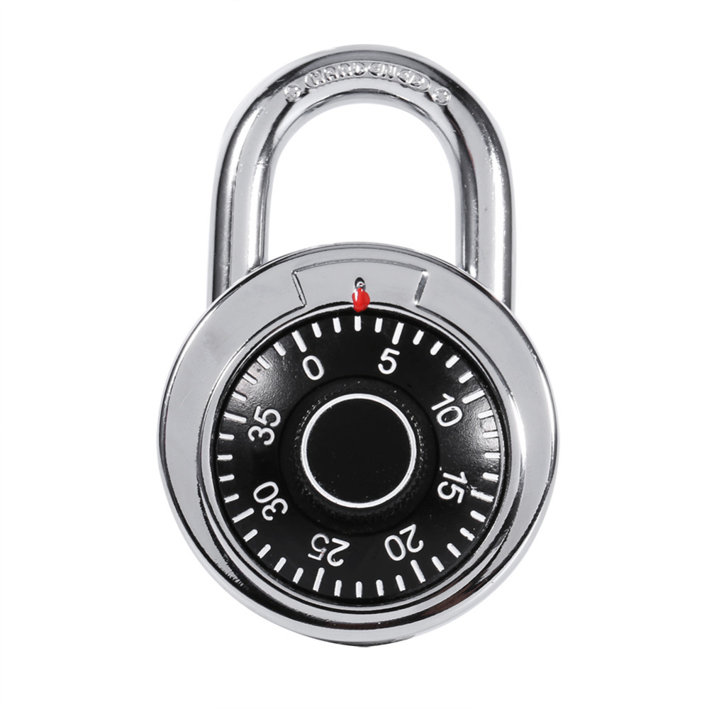 Rotary Padlock Digit Combination Code Lock Safe Round Dial Number Luggage Suitcase Security
