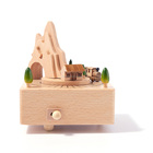 Custom made sound wooden toy gift running train music box boy toy