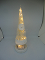 Hot selling led glass cone shaped light christmas trees
