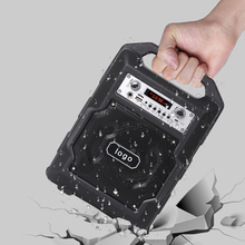 waterproof PA portable usb sd card mini speaker fm radio microphone teaching amplifier