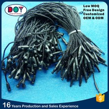 Wholesale China Factory Price Black Bullet Plastic Hang Seal Tag String for Clothing