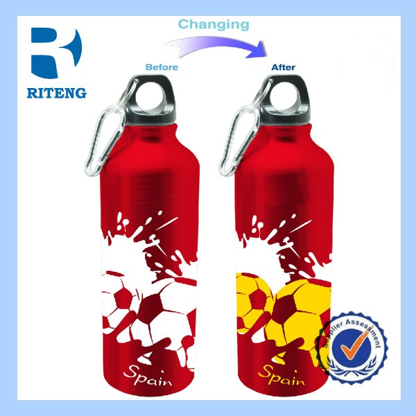 2016 750ml color changing aluminum drinking water bottles
