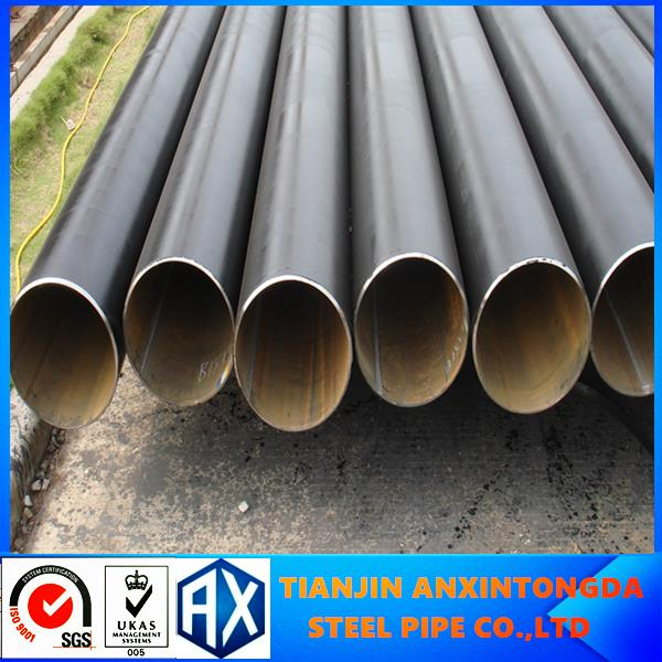 general trading company round welded black steel pipe pressure fertilizer pipe of golden supplier