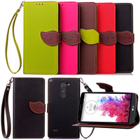 Wholesale Accessory Cell Phone Flip Leater Wallet Cover Case For LG G3 Stylus
