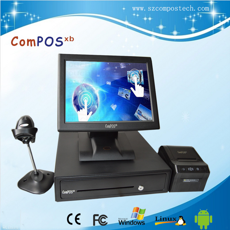 New products POS system with barcode scanner, thermal printer, cash drawer/pos equipment