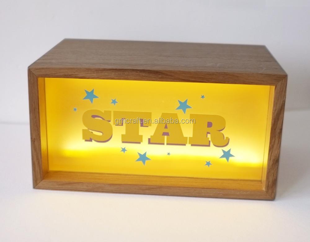 Acrylic Box Letter Making : Acrylic led light letter wooden box buy