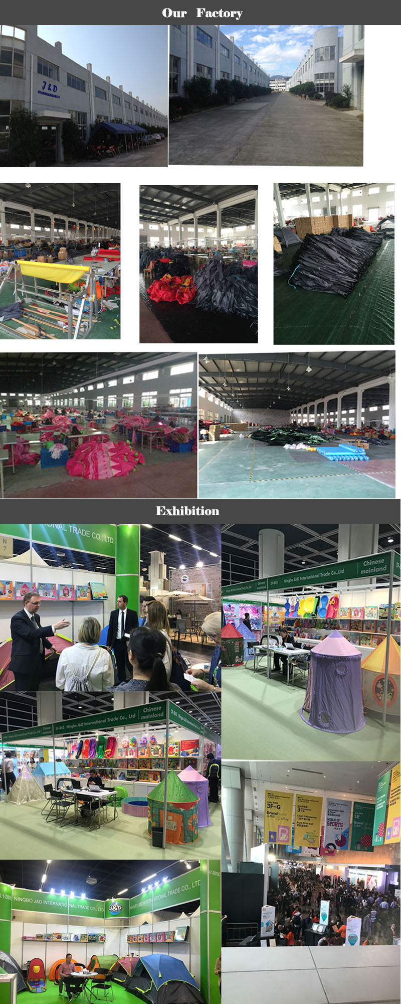 Ningbo J&D New design Children Tent Pop Up ball pool tent Portable Ocean ball pool kids play tent
