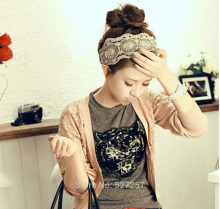 Fashion Women flower elastic hair band accessory lace <strong>Headband</strong>