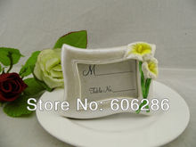 New flower decoration calla lily photo frame wedding decoration can be used as place card holder