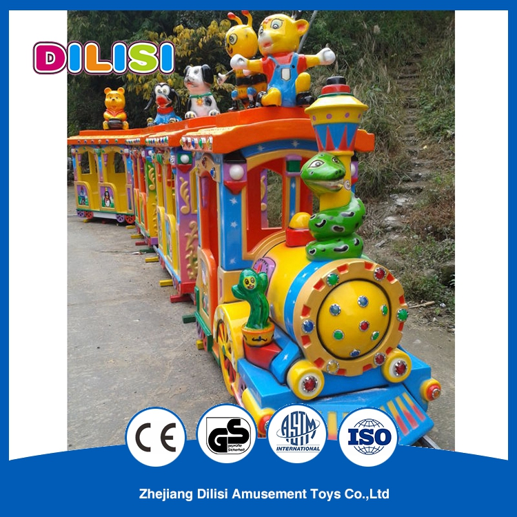 Fun Lovely Electric Tourist Train Passenger Trains For Sale