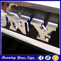 Anti-rust lwaterproof outside stainless steel crystal led signage