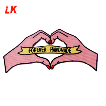 Wholesale Exquisite Love Custom Heart Embroidery Patch