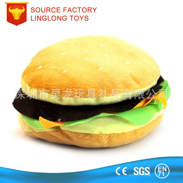 Family Film CD Player DVD Booklet zipper Food Plush CD Case Yellow Stuffed Hamburger CD Cover