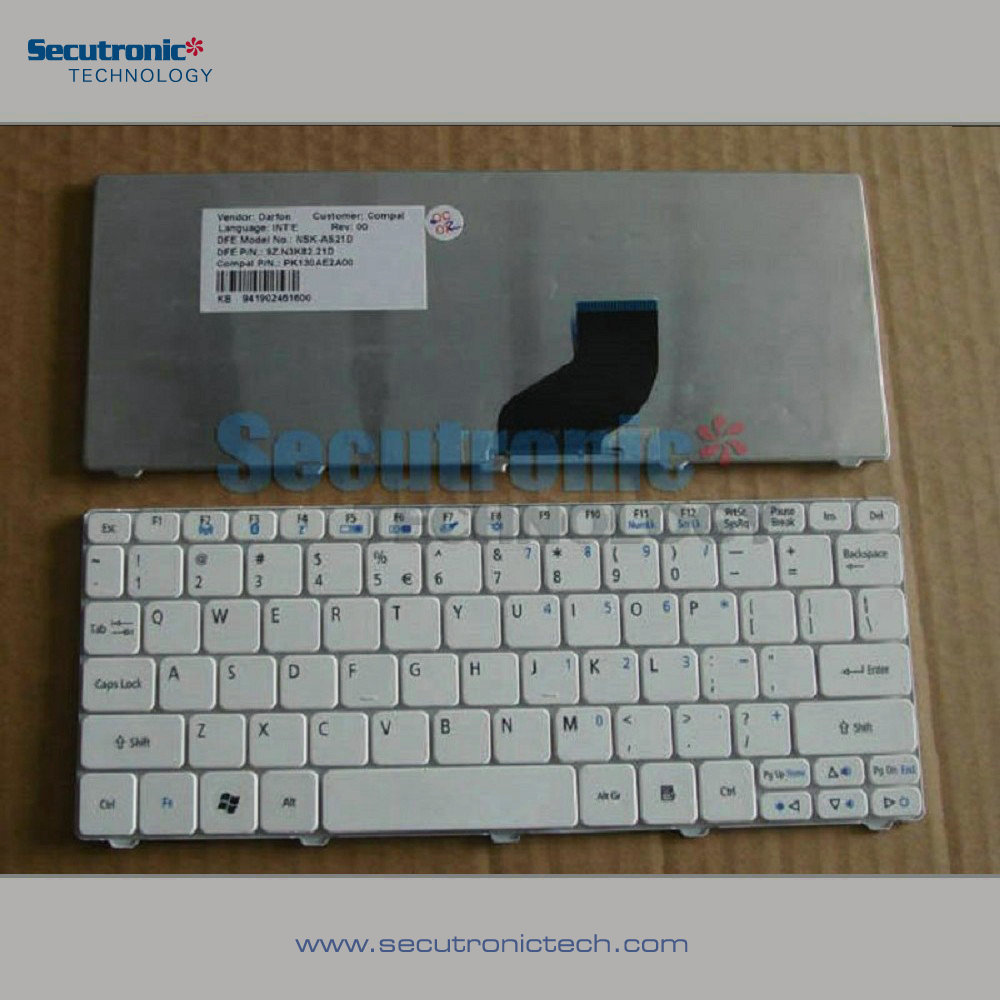 China Suppliers Wired Ultra Slim Mini Keyboard Acer ASPIRE One 532H D250 D255 D257 Gateway LT21 for wholesales
