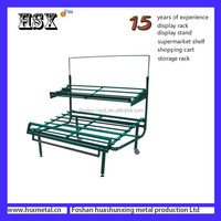 2 layers or 3 layers supermarket fruit vegetable shelf fruit shop displays HSX- 787