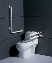 nylon surface wc toilet grab bar/hand rails with antislip