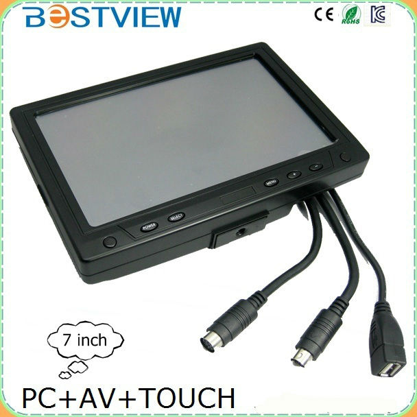 7 inch touch screen <strong>monitor</strong> with vga port for car pc