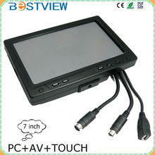7 inch touch screen monitor with vga port for car pc