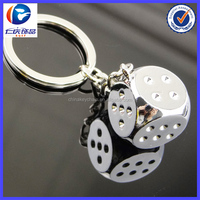 New Design Double metal dice Different shapes Metal keychains
