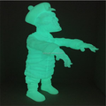 Custom design glow in the dark vinyl toys, making glow in the dark pvc figurines maker, custom made 3d vinyl figure toys factory