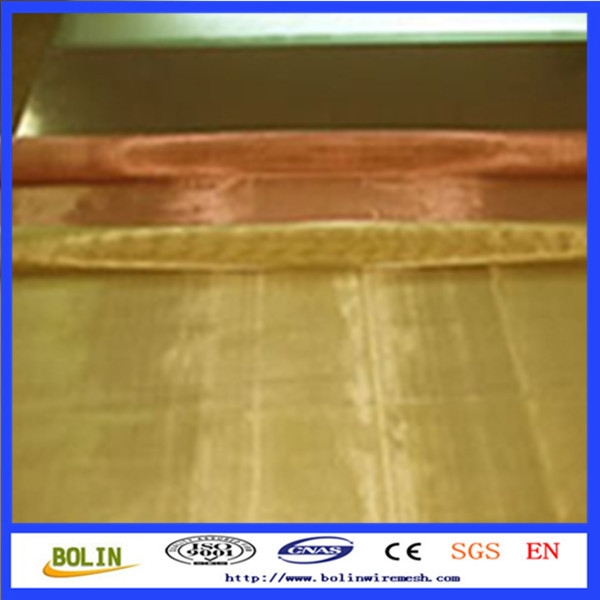 copper hardware cloth / shielding copper mesh for faraday cage / rfid blocking fabric (free sample)