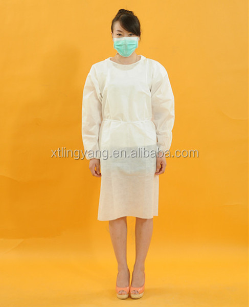 White Disposable Medical Used Surgical Gowns