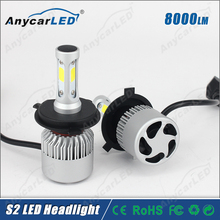 8000LM 30W S2 H4 HB2 Auto motorcycle car LED Headlight Kit