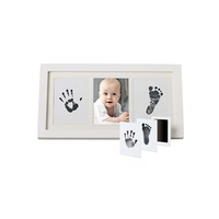 Hot sale Baby Shower Favors Handprint and Footprint Casting Kit Collage Picture Photo Frame