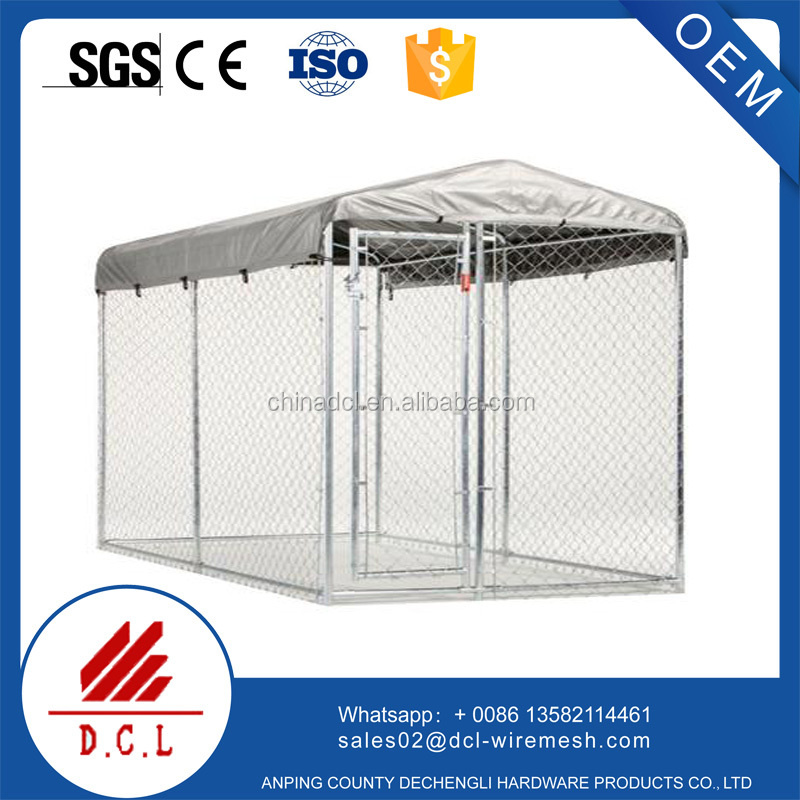 Chain link wire mesh fencing dog kennel/large dog cage