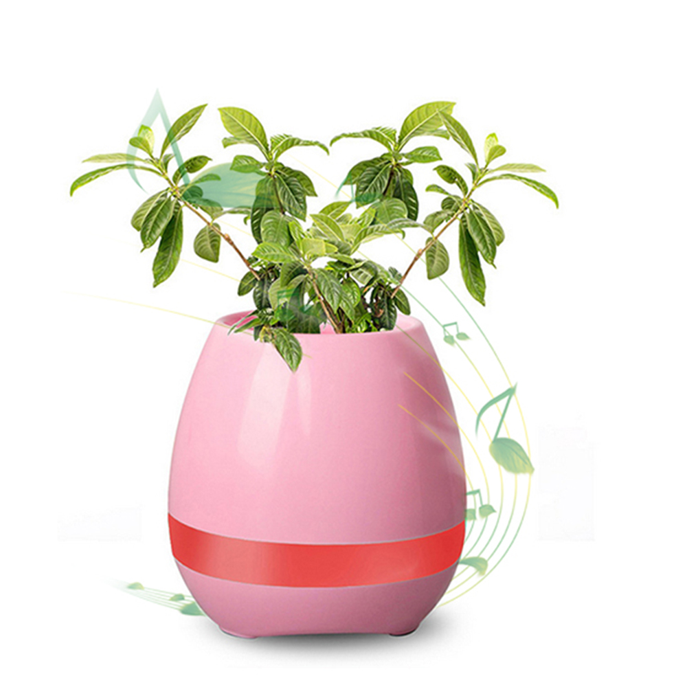 Intelligent Touching Control Light Around Music Playing Flowerpot