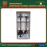 Tourist gift custom souvenir kitchen metal silverware set
