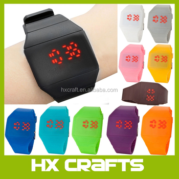 2017 new arrival top fashion led touch watch with 12 colours in stock