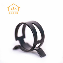 spring steel belt tube clamp with black color in china